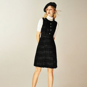 NEW Kate Spade sparkle tweed dress Pearl Buttons